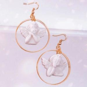Harajuku Angel Hoop Earrings